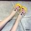 รองเท้าแตะแฟชั่นสีเหลือง สายคาดพลาสติกใส ไม่บาดเท้า (สีเหลือง ) thumbnail 4