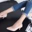 รองเท้าคัทชู ส้นสูง หัวแหลม ซับในกำมะหยี่นิ่ม (สีชมพู ) thumbnail 6