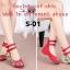 รองเท้าส้นเตี้ย รัดข้อ งานปัก (สีแดง ) thumbnail 3