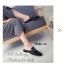 รองเท้าส้นแบน แบบสวม เปิดส้น แต่งอะไหล่สีทอง (สีดำ ) thumbnail 2