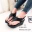 รองเท้าส้นเตารีดรัดส้นสีดำ Style Brand Chanel (สีดำ ) thumbnail 4
