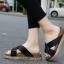 รองเท้าแตะเพื่อสุขภาพสีดำ สายคาผ้าซาติน พื้นยางนิ่ม (สีดำ ) thumbnail 1