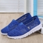 รองเท้าผ้าใบลูกไม้สีน้ำเงิน พื้นสุขภาพ ผ้าลูกไม้โปร่งใส่สบาย (สีน้ำเงิน )