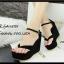 รองเท้าส้นเตารีดรัดส้นสีดำ แบบคีบ หนังกลับ (สีดำ ) thumbnail 4