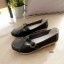 รองเท้าคัทชู สไตล์Loafer หนังนิ้ม สไตล์สุขภาพ (สีดำ ) thumbnail 2
