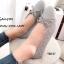 รองเท้าคัทชูส้นแบน หัวกลม หนังนิ่ม ประดับโบว์ (สีเทา ) thumbnail 1
