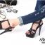 รองเท้าส้นสูง รัดข้อเท้า หนังนิ่ม สไตล์แบรนด์YSL-Tribute-Platfofm (สีดำ ) thumbnail 2