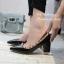 รองเท้าคัทชูหัวแหลม ขอบหมุด สไตล์VAlentino (สีดำ ) thumbnail 4