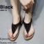 รองเท้าแตะแฟชั่นสีดำ แบบคีบ แต่งอะไหล่คริสตัลวิบวับ (สีดำ ) thumbnail 1