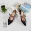 รองเท้าคัทชูส้นสูงสีดำ หัวแหลม เว้าข้าง (สีดำ ) thumbnail 6