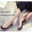 รองเท้าส้นตันเปิดส้นสีดำ สไตล์ลำลอง พียูใสไม่บาดเท้า (สีดำ ) thumbnail 5