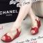รองเท้าส้นเตารีด รัดส้น สายคาดไขว้ (สีแดง ) thumbnail 1