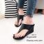 รองเท้าส้นเตารีดสีดำ แบบคีบ สไตล์ลำลอง (สีดำ ) thumbnail 1