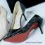 รองเท้าส้นสูงทรงหัวแหลม เว้าข้าง (สีดำ ) thumbnail 6