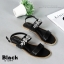 รองเท้าแตะรัดส้นสีดำ สไตล์แบรนด์ MIU MIU (สีดำ ) thumbnail 3