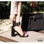 รองเท้าส้นตันรัดข้อสีดำ สายรัดข้อตอกตาไก่ (สีดำ ) thumbnail 4
