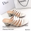 รองเท้าส้นตันสีครีม แบบสวม ดีไซน์งานเส้น (สีครีม ) thumbnail 2