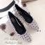 รองเท้าคัทชูส้นแบน หัวแหลม หนังพียูนิ่ม ลายBaoBao (สีขาว ) thumbnail 3