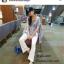 รองเท้าแตะผู้หญิงสีครีม แบบคีบ Style Zara (สีครีม ) thumbnail 3