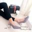 รองเท้าคัทชู หัวแหลม รัดส้น ส้นแปดเหลี่ยมสีทอง (สีเทา ) thumbnail 3