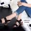 รองเท้าส้นสูง รัดส้น เปิดหน้า สายรัดเมจิกเทป (สีดำ ) thumbnail 2