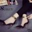รองเท้าส้นสูง หัวแหลม สายรัดข้อสีทอง (สีดำ ) thumbnail 6