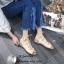 รองเท้าแตะรัดส้นสีครีม พันข้อ เส้นสานหน้า (สีครีม ) thumbnail 2