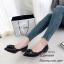 รองเท้าคัทชู หัวแหลม แต่งกุหลาบ (สีดำ ) thumbnail 3