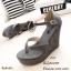 รองเท้าส้นเตารีดรัดส้นสีเทา แบบคีบ หนังกลับ (สีเทา ) thumbnail 2