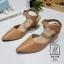 รองเท้าคัทชูรัดข้อสีน้ำตาล หัวแหลม เปิดส้น (สีแทน ) thumbnail 4