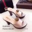 รองเท้าส้นสูงเปิดส้นสีแชมเปญ ใส่แล้วดูขาเรียวยาว (สีแชมเปญ ) thumbnail 4