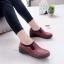 รองเท้าคัทชูเพื่อสุขภาพ สไตล์Oxford ขอบผ้ายืด (สีแดง ) thumbnail 4
