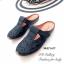 รองเท้าส้นแบน เปิดส้น หนังนิ่ม เพื่อสุขภาพ (สีดำ ) thumbnail 2