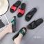 รองเท้าแตะแฟชั่นสีดำ เปิดส้น พื้นสุขภาพ (สีดำ ) thumbnail 7