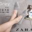รองเท้าคัทชูส้นแบน หัวแหลม เย็บหนังซ้อน สไตล์Zara (สีเทา ) thumbnail 2