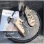 รองเท้าแตะรัดส้นสีครีม พันข้อ เส้นสานหน้า (สีครีม ) thumbnail 6