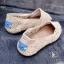 รองเท้าผ้าใบลายลูกไม้สีครีม งานโครเชถัก Style Brand Toms (สีครีม ) thumbnail 2