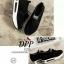 รองเท้าผ้าใบเสริมส้นสีดำ ทรงสวม แบบไม่ต้องผูกเชือก (สีดำ ) thumbnail 2