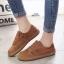 รองเท้าผ้าใบผู้หญิง สไตล์วินเทจ (สีน้ำตาล ) thumbnail 6