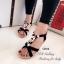 รองเท้าแตะ รัดส้น สายรัดยางยืด ใส่กระชับเท้า (สีดำ ) thumbnail 2