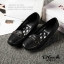 รองเท้าคัทชูส้นเตารีด หัวตัด หนังนิ่ม เรียบหรูดูดี (สีดำ ) thumbnail 5