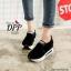รองเท้าผ้าใบเสริมส้นสีดำ ทรงสวม แบบไม่ต้องผูกเชือก (สีดำ ) thumbnail 1
