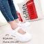 รองเท้าผ้าใบพื้นสุขภาพ แบบสวม สายรัดข้อเท้าเมจิกเทป มีAirMax (สีขาว ) thumbnail 2