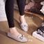 รองเท้าคัทชูส้นเตี้ย แต่งอะไหล้โบว์ สวยหวาน (สีเทา ) thumbnail 2