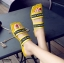 รองเท้าแตะแฟชั่นสีเหลือง เปิดส้น งานสไตล์ลำลองเกร๋ๆ (สีเหลือง )