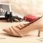 รองเท้าคัทชู ส้นสูง หัวแหลม ทรงเก็บหน้าเท้า (สีน้ำตาล ) thumbnail 2