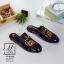 รองเท้าส้นแบนเปิดส้นสีดำ style แบรนด์ Gucci (สีดำ ) thumbnail 4