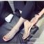 รองเท้าส้นตันสีครีม พียูใสไม่บาดเท้า แต่งเพชร (สีครีม ) thumbnail 4