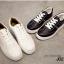 รองเท้าผ้าใบ แบบเชือก ด้านในบุฟองน้ำ งานเริ่ด (สีดำ ) thumbnail 2