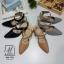 รองเท้าคัทชูรัดข้อสีน้ำตาล หัวแหลม เปิดส้น (สีเทา ) thumbnail 5
